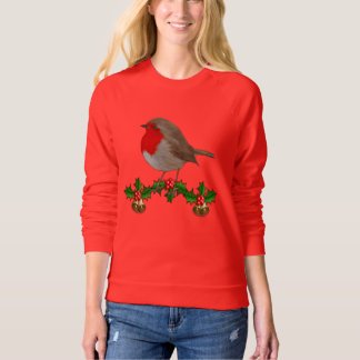 Robin Christmas Jumper Style Design Sweatshirt