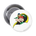 Robin Crouches 2 Inch Round Button