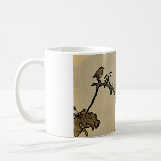Robin Early Morning Woodcut Design Mug