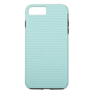Robin Egg Blue and White Zig Zag iPhone 8 Plus/7 Plus Case