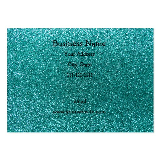 Robin egg blue glitter business card