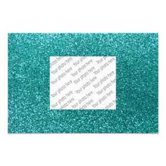 Robin egg blue glitter photo print