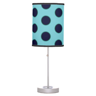 Robin Egg Blue Polka Dotted Lamp