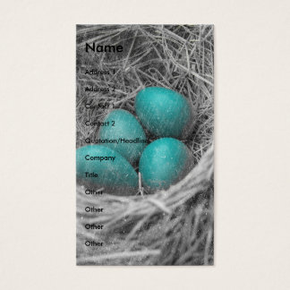 Robin Eggs Grunge Business Card