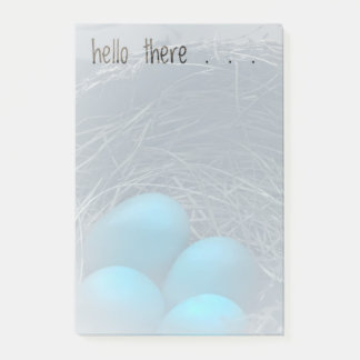 Robin Eggs in a Nest Post-it Notes