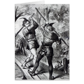 Robin Hood and Little John Card