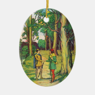Robin Hood And Little John Ceramic Ornament