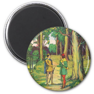 Robin Hood And Little John Magnet