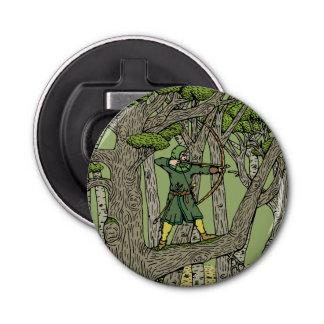 Robin Hood Button Bottle Opener