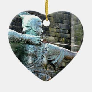 Robin Hood Ceramic Heart Ornament
