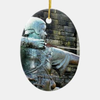 Robin Hood Ceramic Oval Ornament