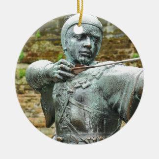 Robin Hood Round Ceramic Ornament