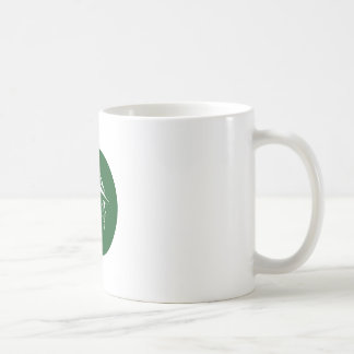 Robin Hood Side Profile Circle Woodcut Coffee Mug