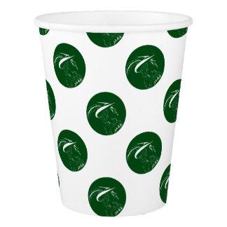 Robin Hood Side Profile Circle Woodcut Paper Cup