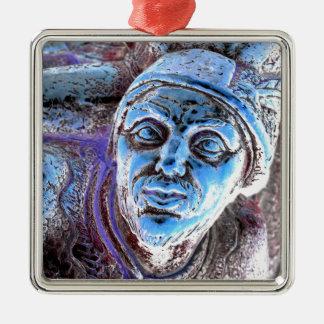 Robin Hood Silver-Colored Square Ornament