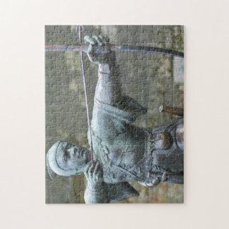 Robin Hood Statue Nottingham Jigsaw Puzzle
