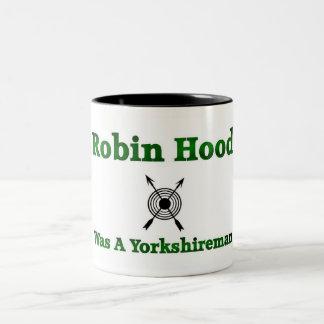 Robin Hood Was A Yorkshireman Two-Tone Coffee Mug