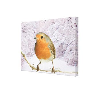 Robin image for Wrapped canvas