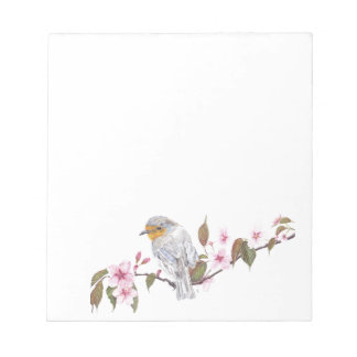 Robin in Blossom Note Pad