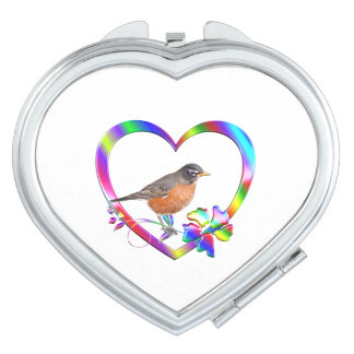 Robin in Colorful Heart Makeup Mirror