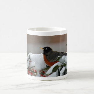 Robin in Snow Mug