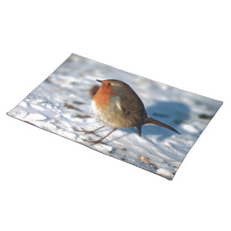 Robin In The Snow Place Mats