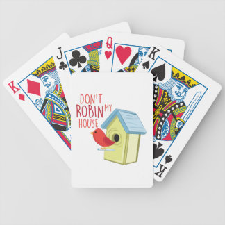 Robin My House Bicycle Playing Cards