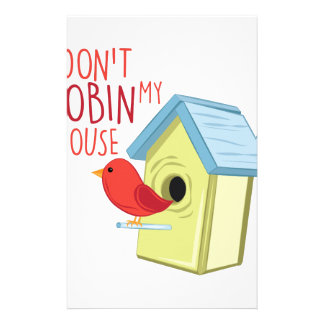 Robin My House Customized Stationery