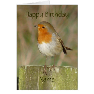 """Robin-Oiseau européen le Northumberland Carte"