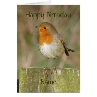 """Robin-Oiseau européen le Northumberland Carte De Vœux"