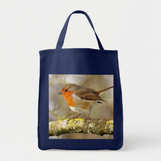 Robin on Branch Tote Bag