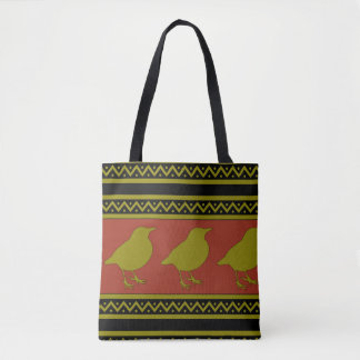 Robin or Bird print Tote Bag