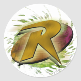 Robin -R Round Sticker