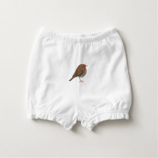 Robin Red Breast Bird Watercolor Painting Artwork Diaper Cover