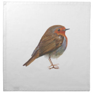 Robin Red Breast Bird Watercolor Painting Artwork Napkin