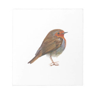 Robin Red Breast Bird Watercolor Painting Artwork Notepad