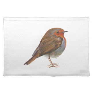 Robin Red Breast Bird Watercolor Painting Artwork Placemat