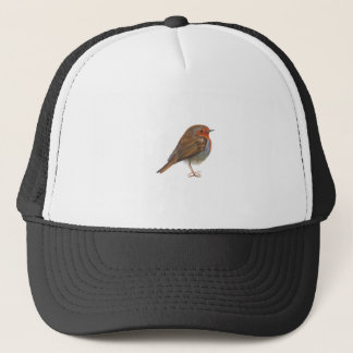 Robin Red Breast Bird Watercolor Painting Artwork Trucker Hat