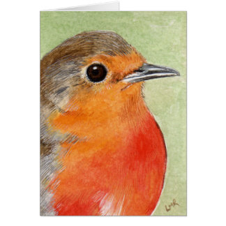 Robin Red Breast Painting Note Card