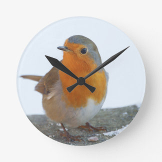 Robin Red Breast Round Clock