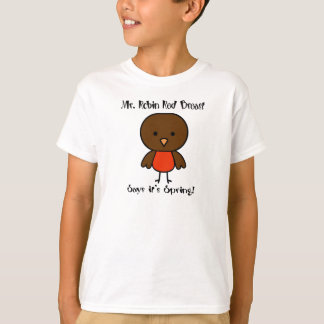 Robin Red Breast Spring T-Shirt