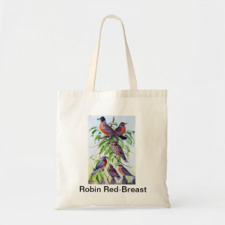 Robin Red Breast Tote Bag