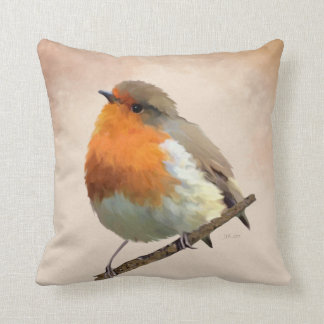 Robin Red Throw Pillow