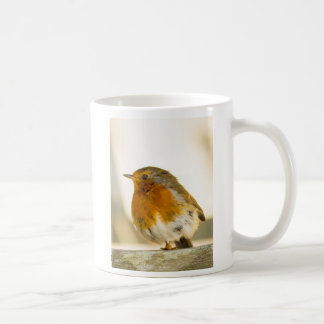 Robin Redbreast bird photo mug 1 legged braveheart