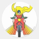 Robin Rides 2 2 Round Sticker