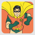 Robin Running Square Sticker