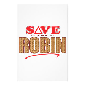 Robin Save Stationery Design
