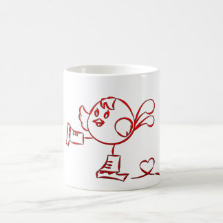 Robin Skating Coffee Mug