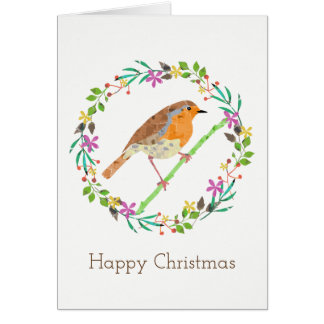 Robin the bird of Christmas Card