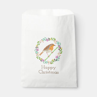 Robin the bird of Christmas Favour Bag
